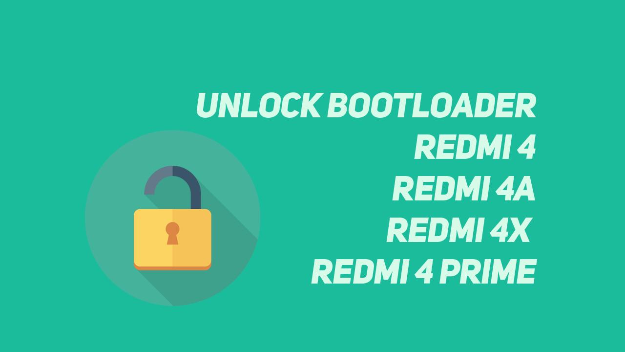 Cara Mudah Unlock Bootloader Redmi 4 , 4A ,4X ,4 prime
