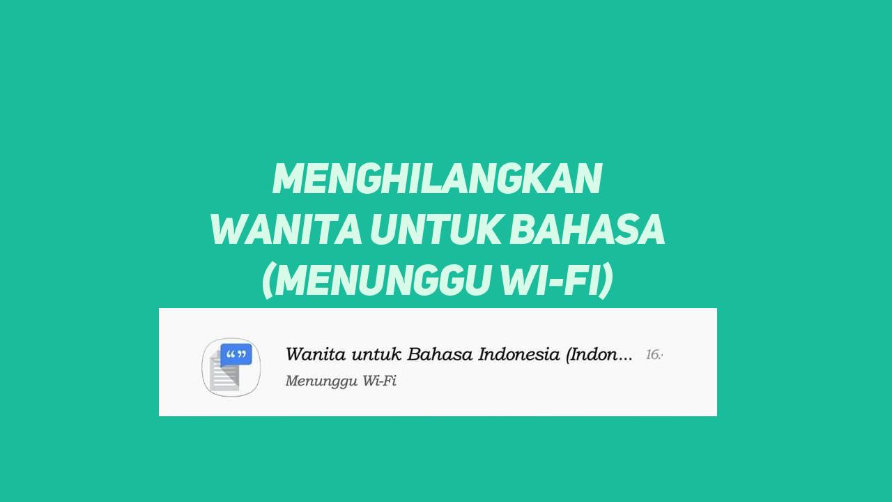Cara menghilangkan Wanita Untuk Bahasa Indonesia Menunggu Wifi di Xiaomi