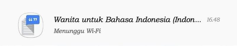 Wanita Untuk bahasa Indonesia ( Menunggu Wi-Fi)
