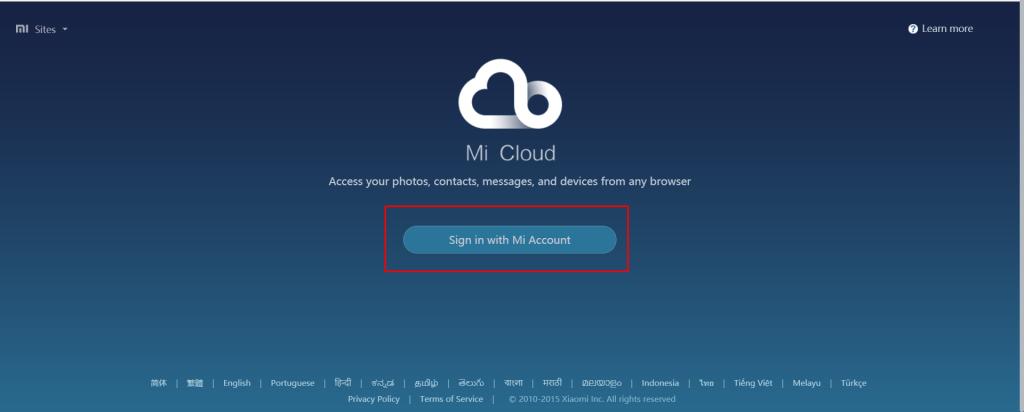 Cara melacak ponsel xiaomi dengan mi cloud