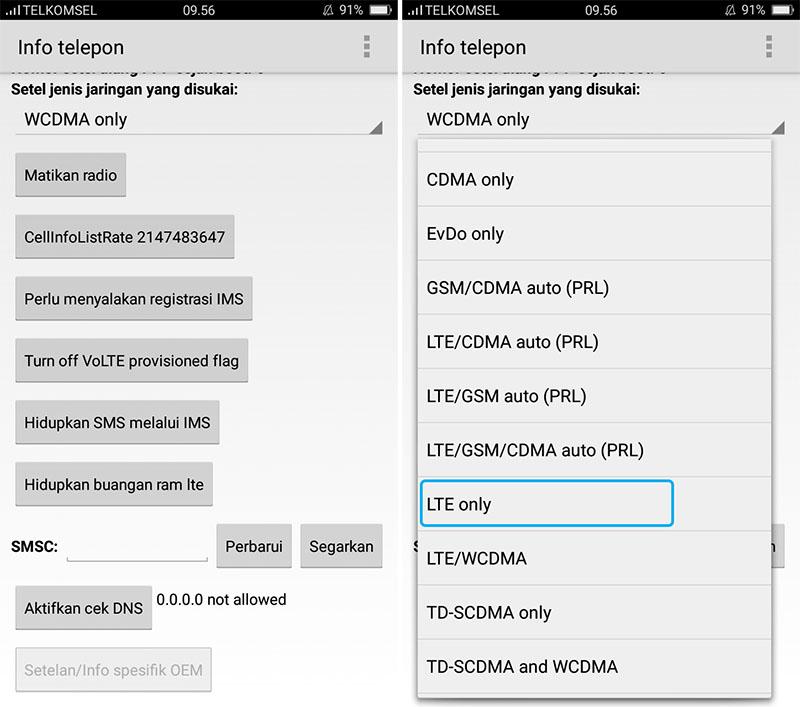 Cara Mengaktifkan Lock Sinyal 4G LTE Only di HP OPPO